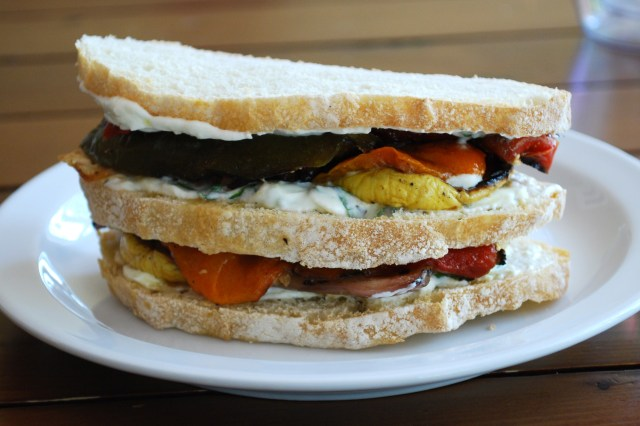 Grilled Vegetable and Goat Cheese Sandwich – Oh Yeah, Baby ...